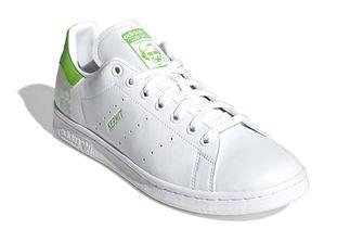 kermit x adidas stan smith, groene sneakers, duurzaam, kikker, frog