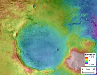 jezero krater, mars, buitenaards leven, aliens, mars rover, nasa