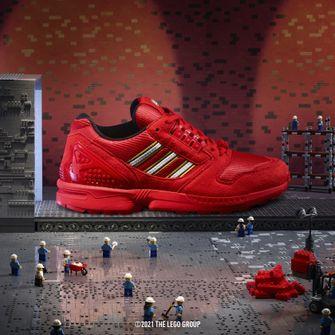 adidas ZX 8000 x LEGO, sneakers, primaire kleuren, rood