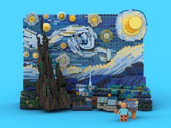 De Sterrennacht: LEGO steekt iconisch schilderij Van Gogh in verrassend jasje