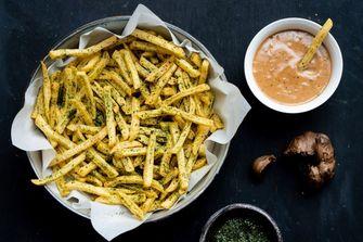zoute snacks friet met zeewier