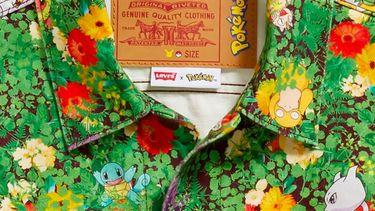 levi's, pokémon, kledinglijn, collab, bloemen