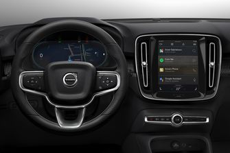 Volvo XC40 Recharge elektrische auto interieur