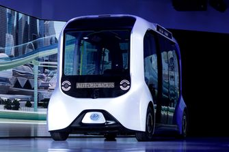 e palette, autonoom busjes, olympische spelen in 2021
