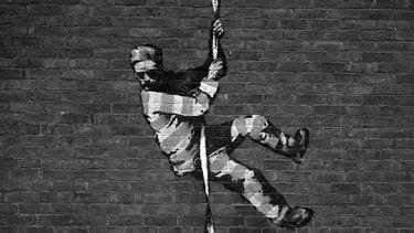 banksy, bob ross, zwart-wit, great escape, how to, kunstwerk, reading prison, gevangenis