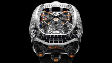 Jacob & Co. Bugatti Chiron Tourbillon Baguette Black and Orange, horloge, nieuw, nav