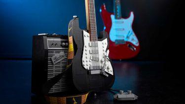lego fender stratocaster, gitaar, legoset, set, bouwset
