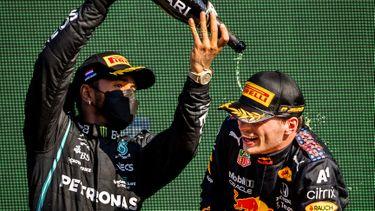 Max Verstappen Lewis Hamilton Rusland Gridstraf