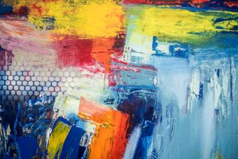 Schilderij, abstract, modern interieur