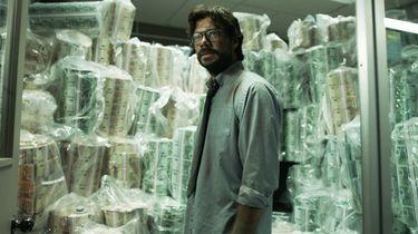 the professor van la casa de papel staat voor veel geld, sparen, truc