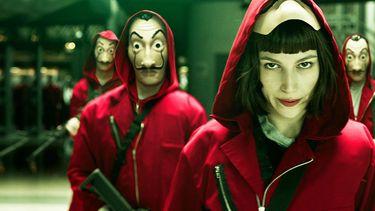 Netflix gratis proefabonnement Scene uit de Netflix serie La Casa de Papel
