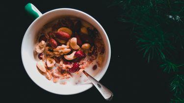 ontbijt, gezondste noten, genoeg per dag, handje, 25 gram