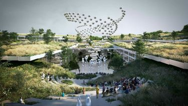 ai city, china, kunstmatige intelligentie, robots, mensen, natuur