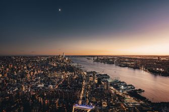 the edge, buitendek, glas, new york, architectuur, travel