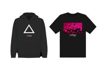 netflix, squid game, merchandise, kledinglijn, t-shirts, hoodies