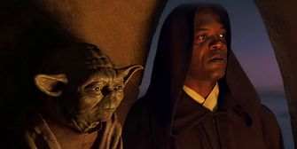 Yoda en Mace Windu Star Wars The Mandalorian