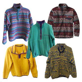 fleecetruien, jaren 90, modetrends, 90s
