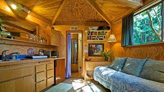 populairste, airbnb, ter wereld, hut, bos, fotos