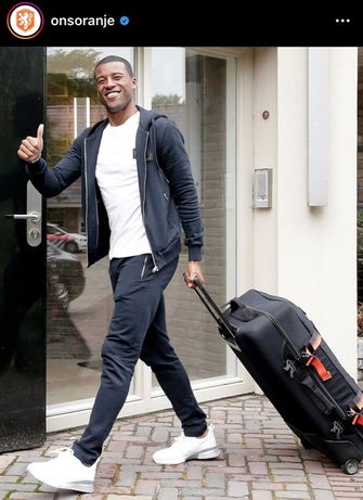 Georginio Wijnaldum, casual kledingstijl, nederlands elftal, oranje-internationals