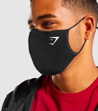 zwart mondkapje gymshark tegen hooikoorts