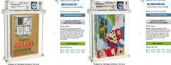 Duurste videogame ooit vertienvoudigd record Nintendo 64 Mario veiling