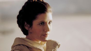 carrie fisher, prinses leia organa, star wars, ode, hollywood walk of fame-ster