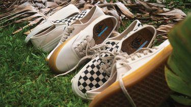 vans eco theory, klassieke sneakers, duurzame versie, sfeer