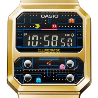pac-man, casio, vintage horloge, F-100