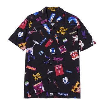 huf, playboy, shirt, collab, collectie, bowlingshirt