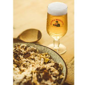 truffel, risotto, birra moretti, biertip