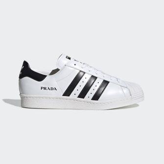 prada x adidas superstar sneakers, 450 euro, kopen, 8 september