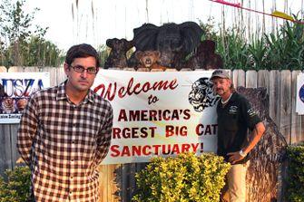 Louis Theroux shooting joe exotic, tiger king, docu, nieuwe documentaire