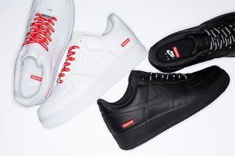 nike air force 1, supreme, sneakers, betaalbaar, wit