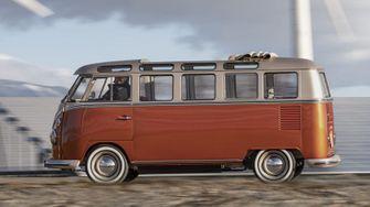 elektrische hippiebus, volkswagen t1 e-bulli