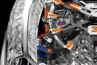 Jacob & Co. Bugatti Chiron Tourbillon Baguette Black and Orange, horloge
