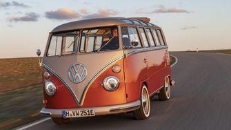 volkswagen t1 e-bulli, elektrische hippiebus