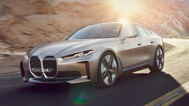 nieuw BMW-logo, bmw i4, 2021