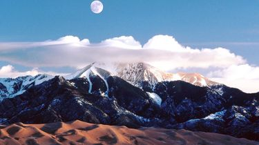 Great Sand Dunes National Park, colorado, nationale parken, amerika, verenigde staten, onbekende