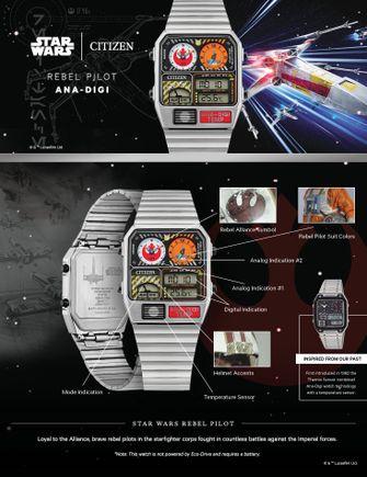 star wars, horloges, rebel pilot, horloge, watch, citizen