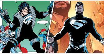 superman, zwart pak, justice league, snyder cut