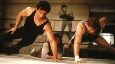 rocky, push-up, thuis trainen, workout, lichaamsgewicht
