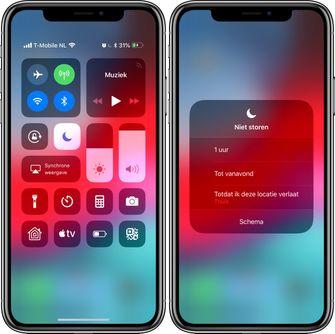 iOS 12 niet storen functie
