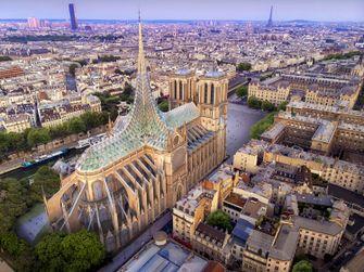 vincent callebaut, architect, notre dame, parijs, dak, glazen dak, glas