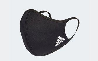 zwart mondkapje adidas tegen hooikoorts