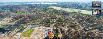 wuhan, foto, 360, inzoomen, gigapixel, foto, china
