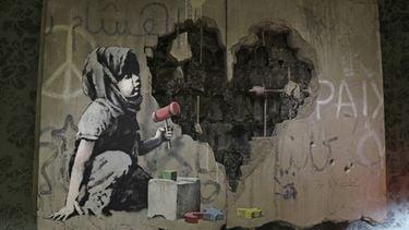 ganksy, banksy, ai-robot, kunstmatige intelligentie, kunst, kunstwerken, street-art