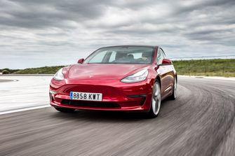 Tesla, Model, 3, Elektrische, Auto, Van, Het, Jaar
