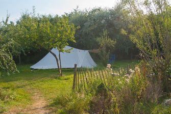 biodynamische boerderij, kamperen