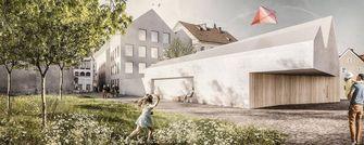 geboortehuis, adolf hitlerr, braunau, oostenrijk, architectuur, politiebureau