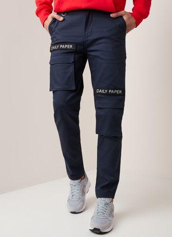 daily paper, cargo pants, stijlvolle, strend, broek met zakken aan de zijkant